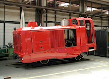 Repaired diesel locomotive after irreparable damage